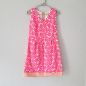 Sail to Sable Floral Embroidered  Dress in Pink